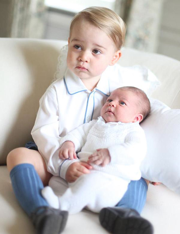 Princess Charlotte Gets Serious With Prince George