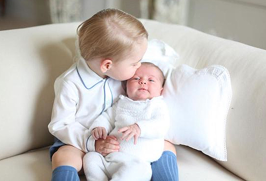 Princess Charlotte Gets a Kiss from Prince George