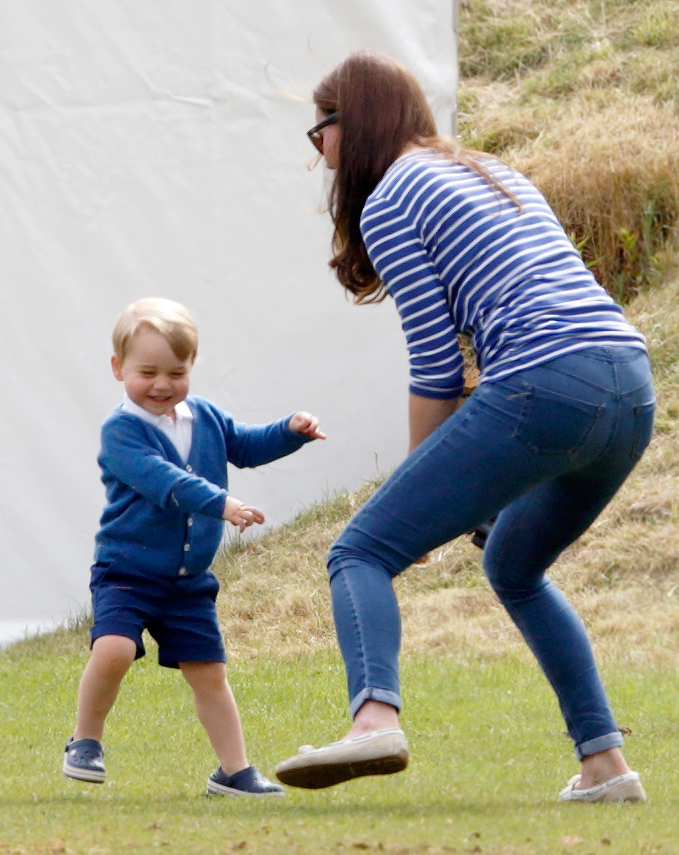 Prince George Dances at a Polo Match