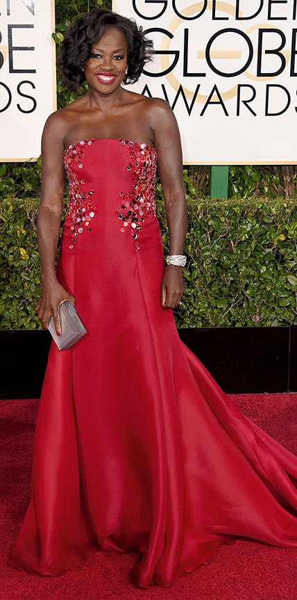 Viola Davis at the 2015 Golden Globe Awards