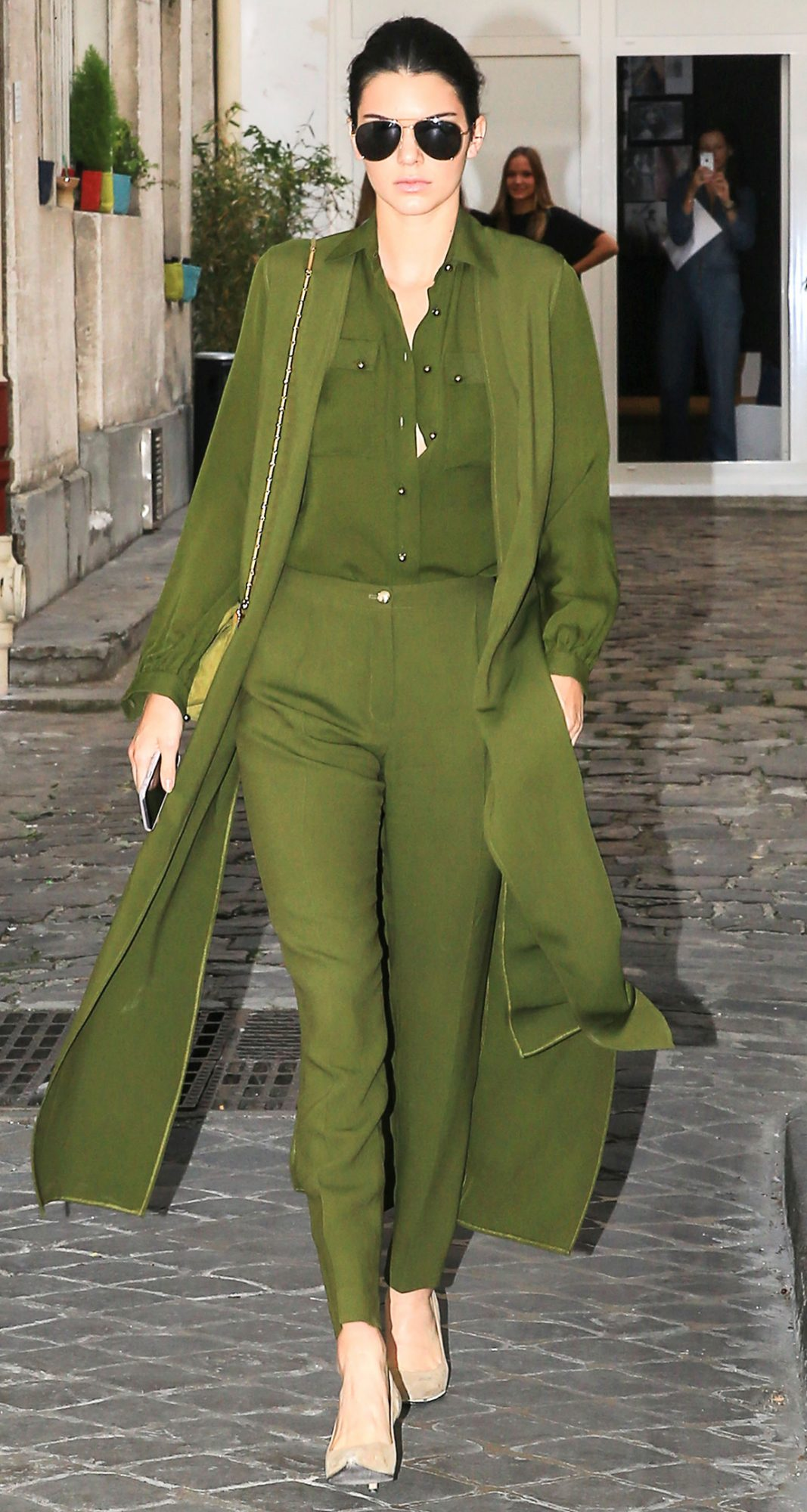 In Army Green Pieces