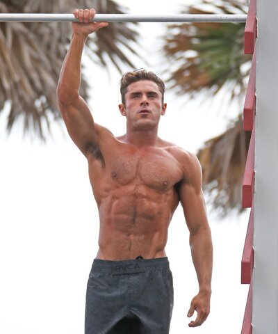 See Zac Efrons Abs On Baywatch Instylecom