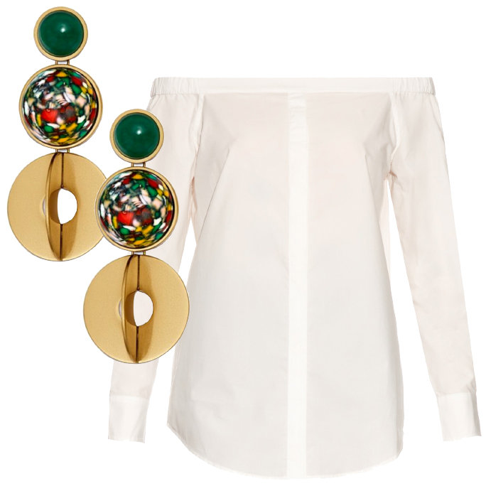 TORY BURCH EARRINGS AND EQUIPMENT TOP