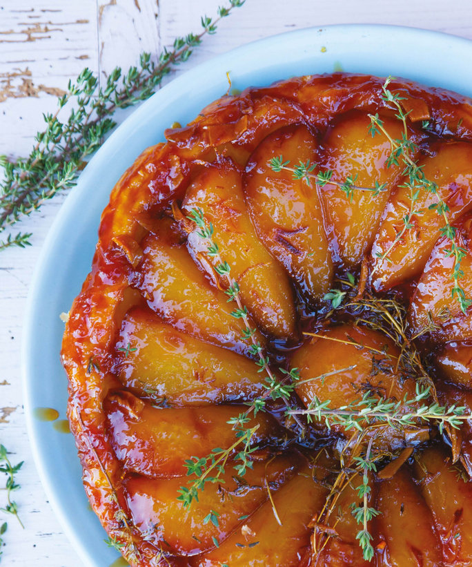 Pear, Ginger, and Thyme Tarte Tatin