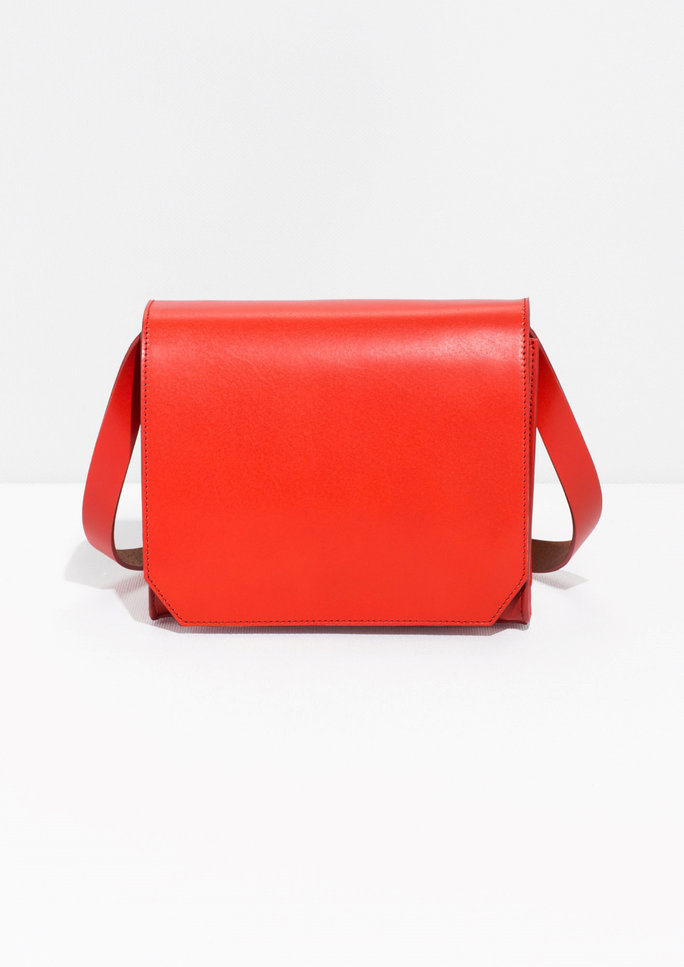 Structured Leather Cross-BodyBag