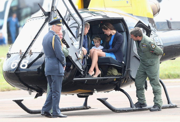 Prince George Takes a Seat in a Helicopter