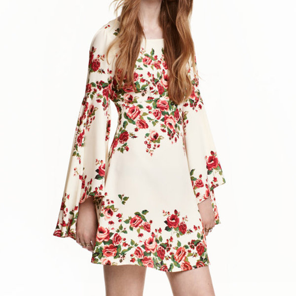 H&M Dress with Trumpet Sleeves