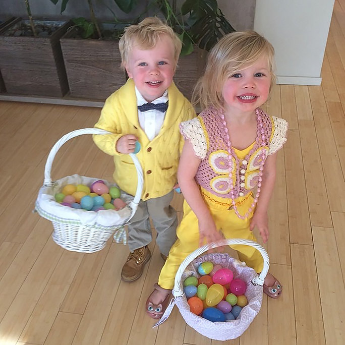 Gideon and Harper Celebrate Easter