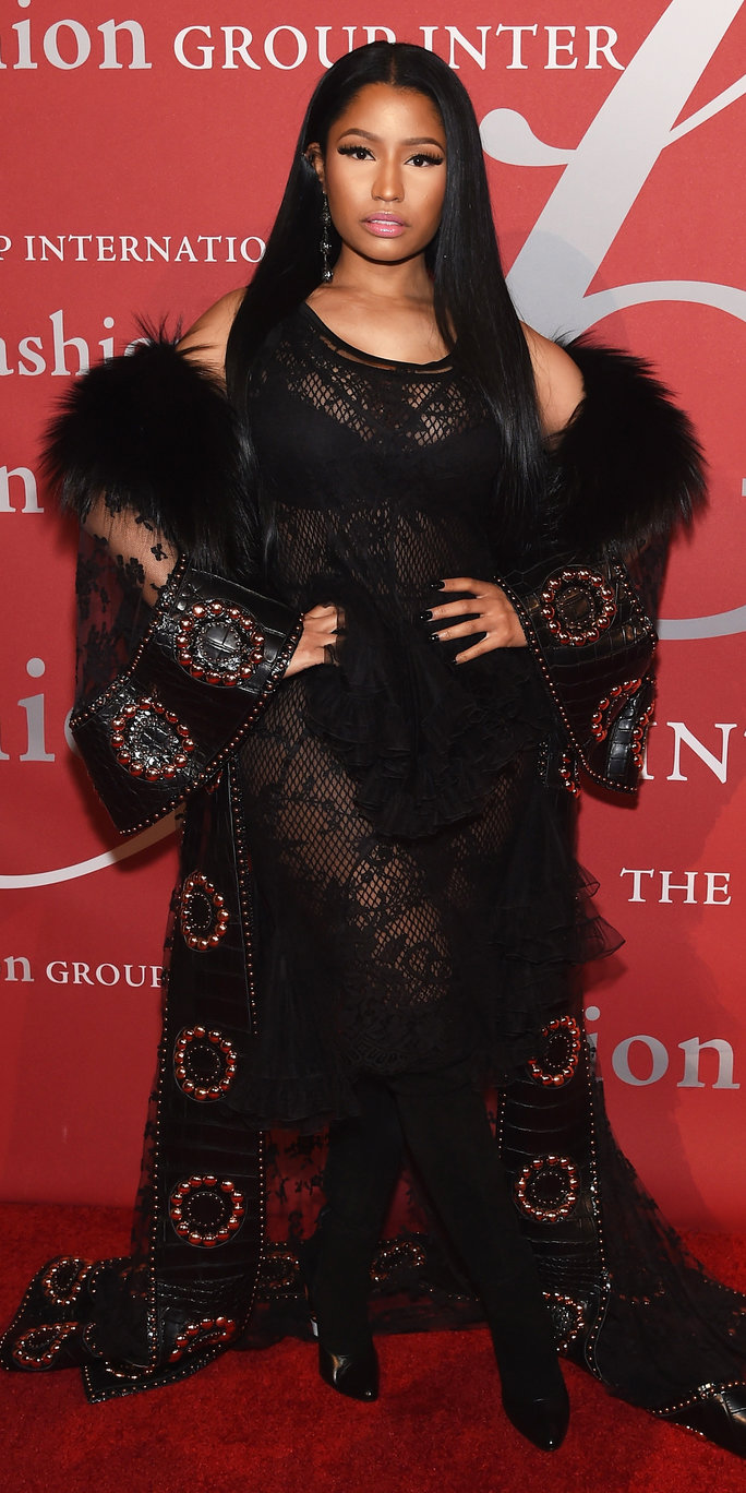 NEW YORK, NY - OCTOBER 27: Nicki Minaj attends 2016 Fashion Group International Night Of Stars Gala at Cipriani Wall Street on October 27, 2016 in New York City. (Photo by Jamie McCarthy/Getty Images)