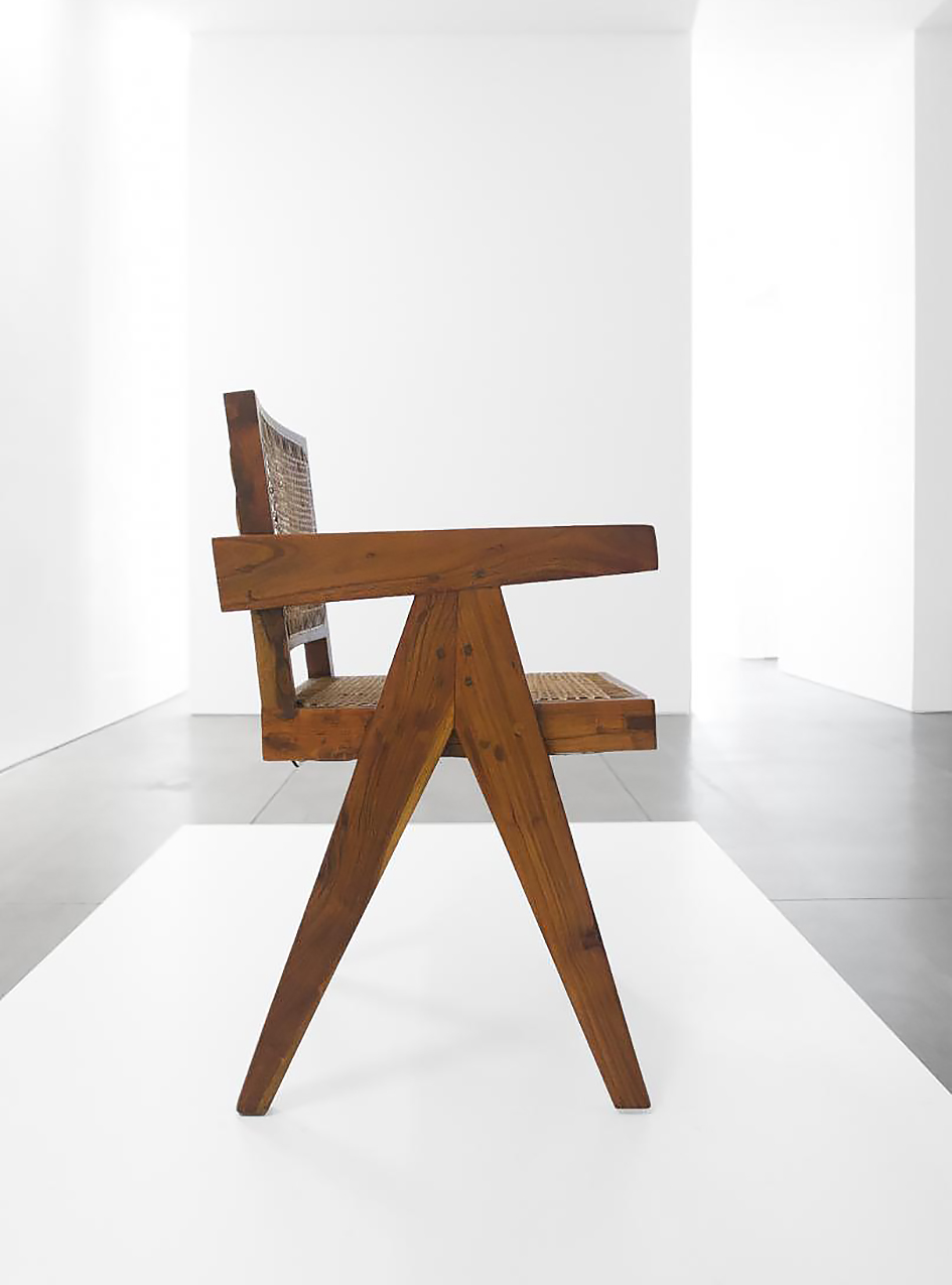 Vintage Teak Conference Chair by Pierre Jeanneret for Chandigarh