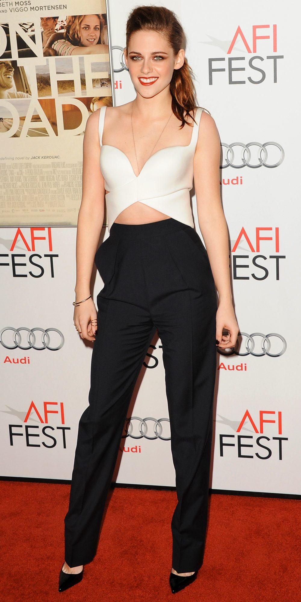In Balenciaga at the American Film Institute Fest in L.A., 2012