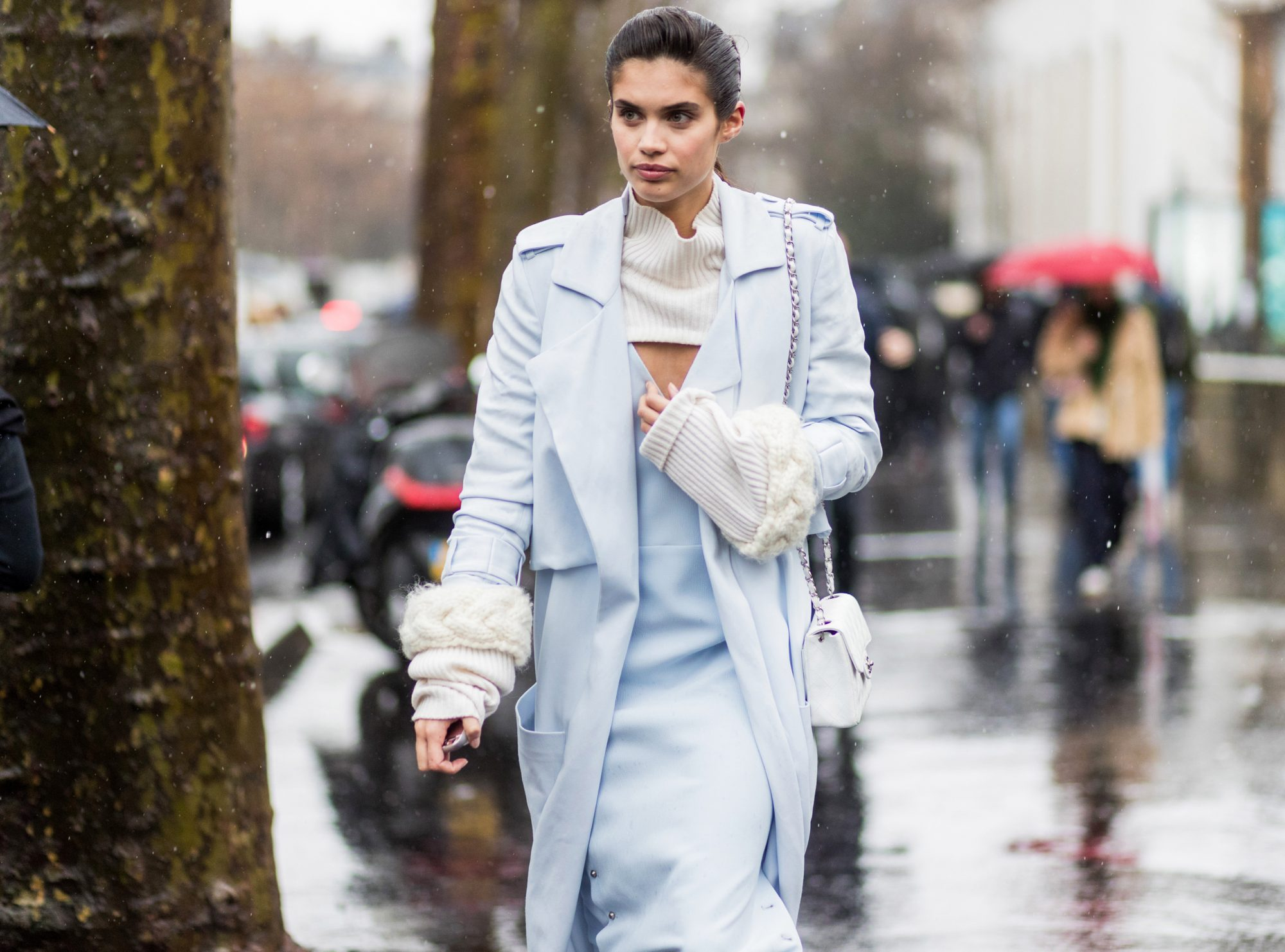 PASTEL BLUE AND WINTER WHITE