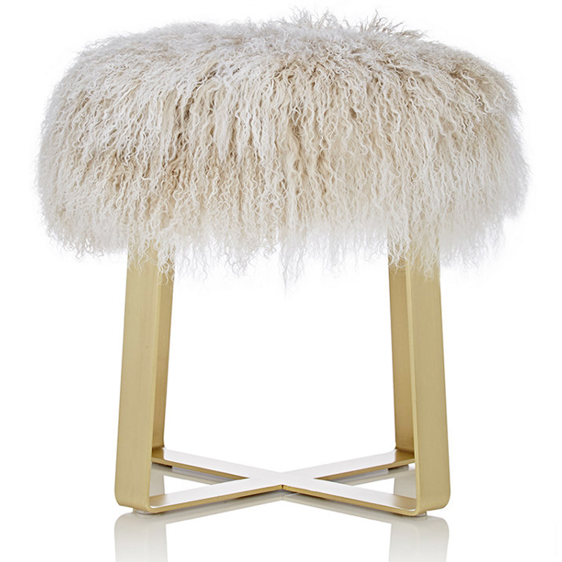 Fur Footstool