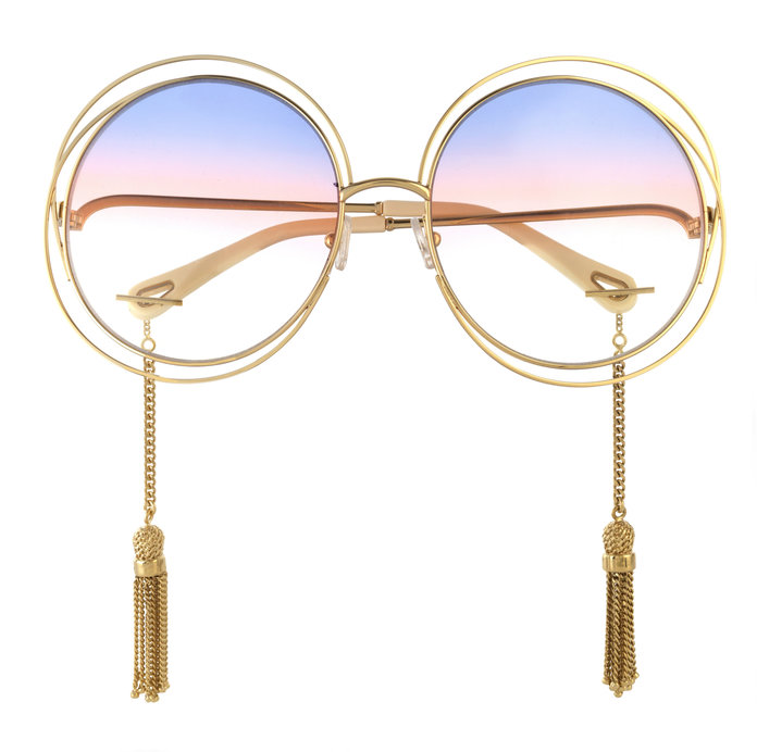 GOLD-TONE SUNGLASSES
