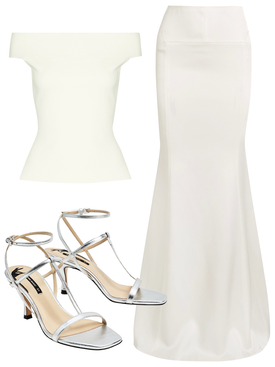 White Monochromatic for Evening