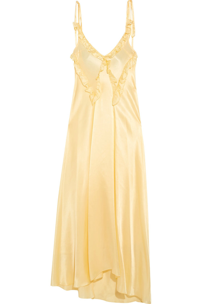 FRILLY YELLOW DRESS