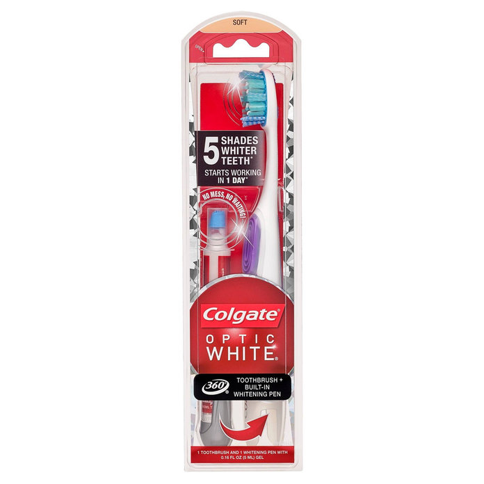 Colgate Optic White Toothbrush + Whitening Pen