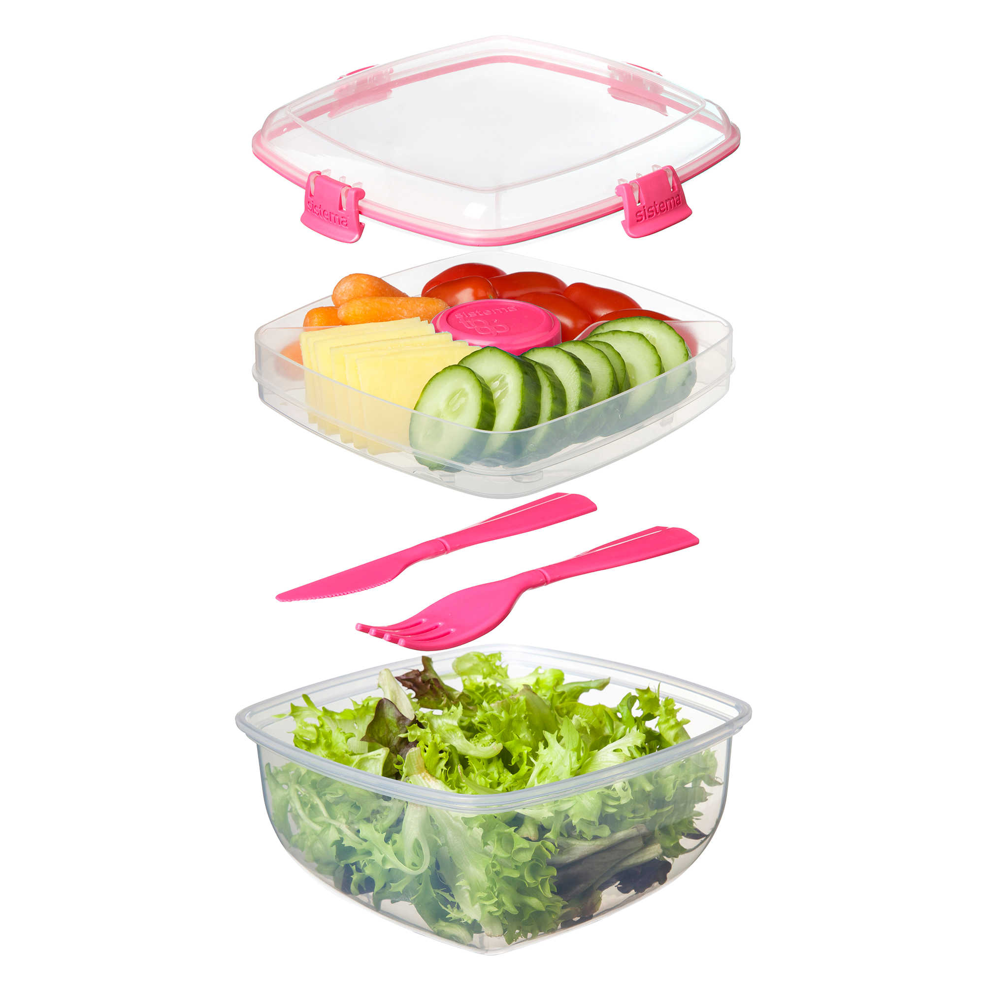 Sistema® 37.2 oz. Salad To Go Container
