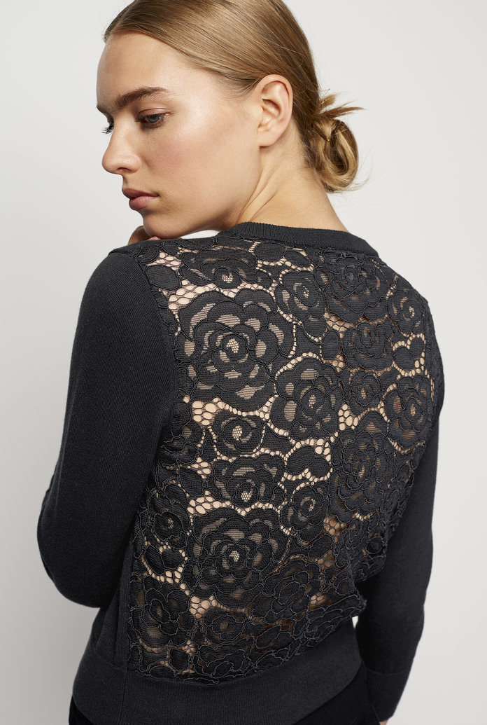 The Lace Back Cardigan
