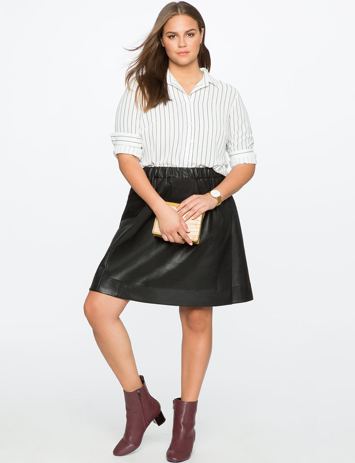 The Faux Leather Skirt