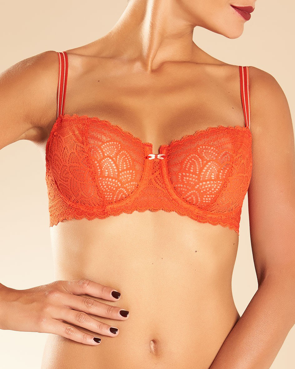 Merci Lace Unlined Demi Bra