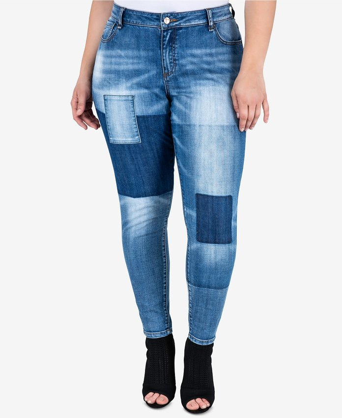 Standard and Practices Mixed Media Denim Jeans