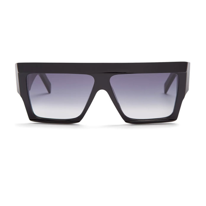Squared aviator-frame acetate sunglasses