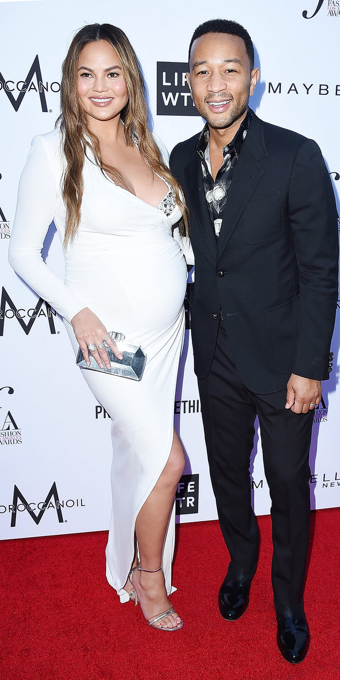 Chrissy Teigen and John Legend Daily Front Row Fashion Awards