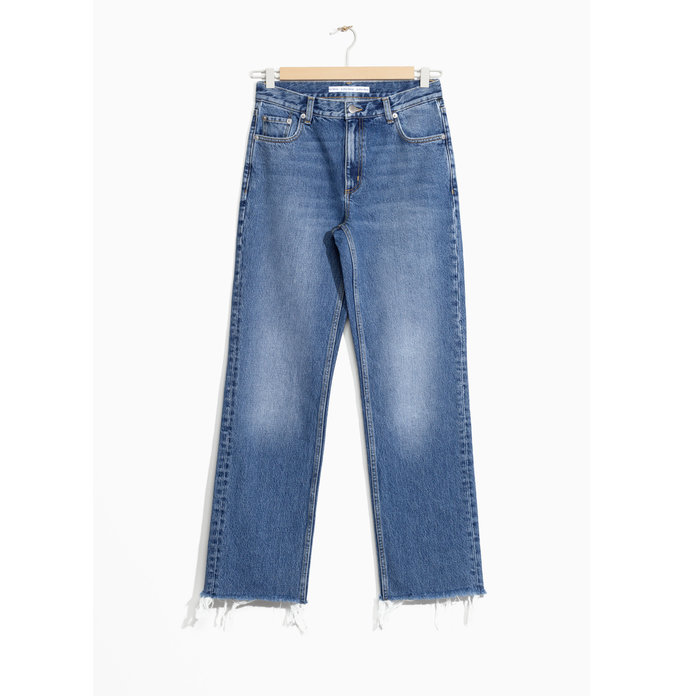 & Other Stories Faded Raw Edge Jeans
