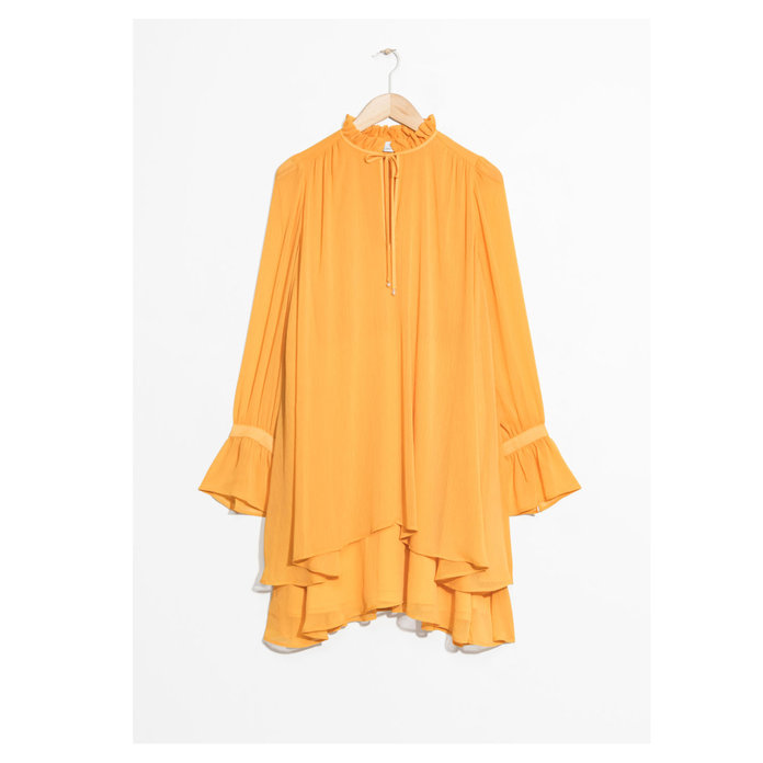 & Other Stories Ruffle Neck Dress