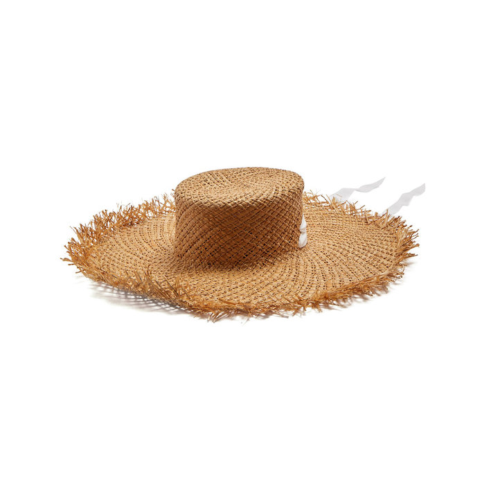 Albus Lumen Tie Neck Straw Hat