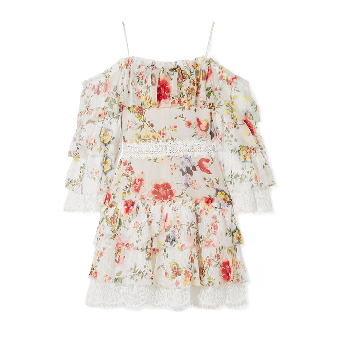 Alice + Olivia Floral Mini Dress