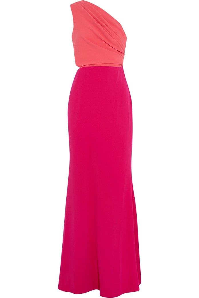 color block gown