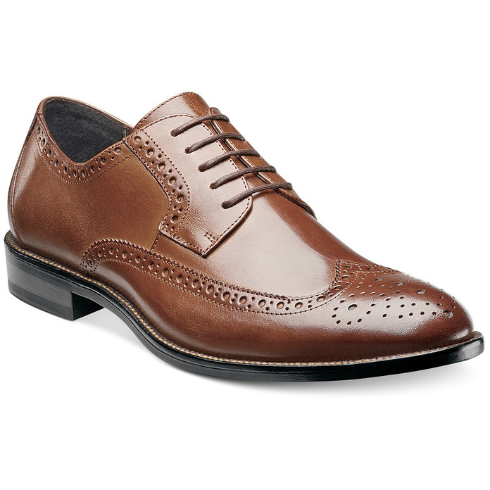Stacy Adams Wing-Tip Oxfords