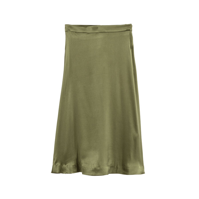 H&M Silk Midi Skirt