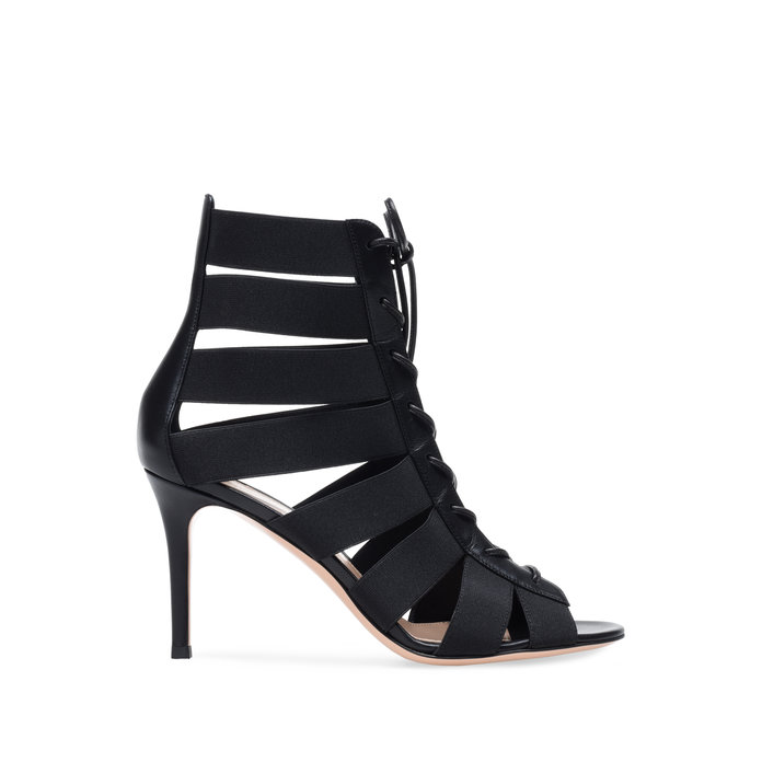 Gianvito Rossi Lace-Up Bootie Stiletto
