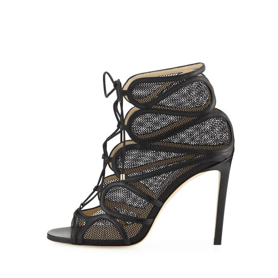 Jimmy Choo Open-Toe Bootie
