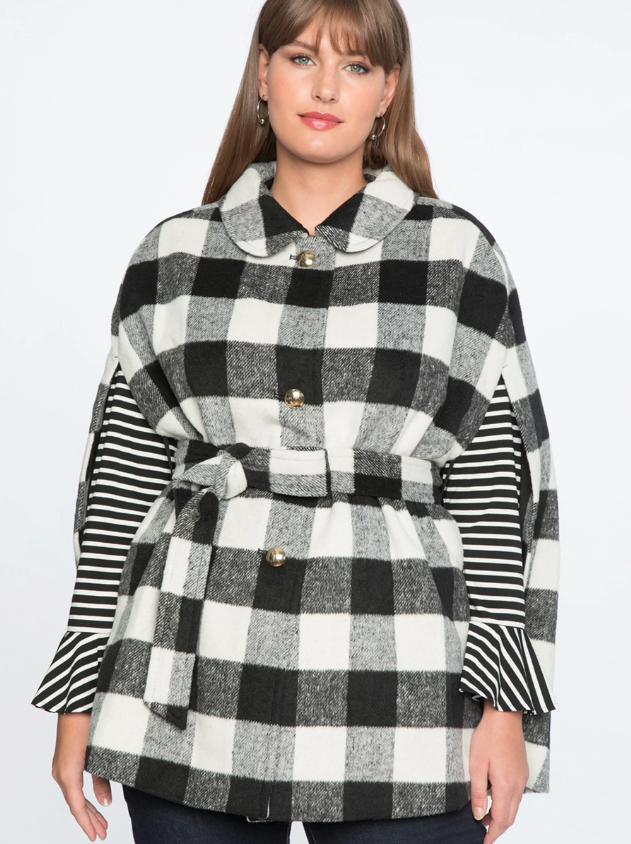 Buffalo Check Cape