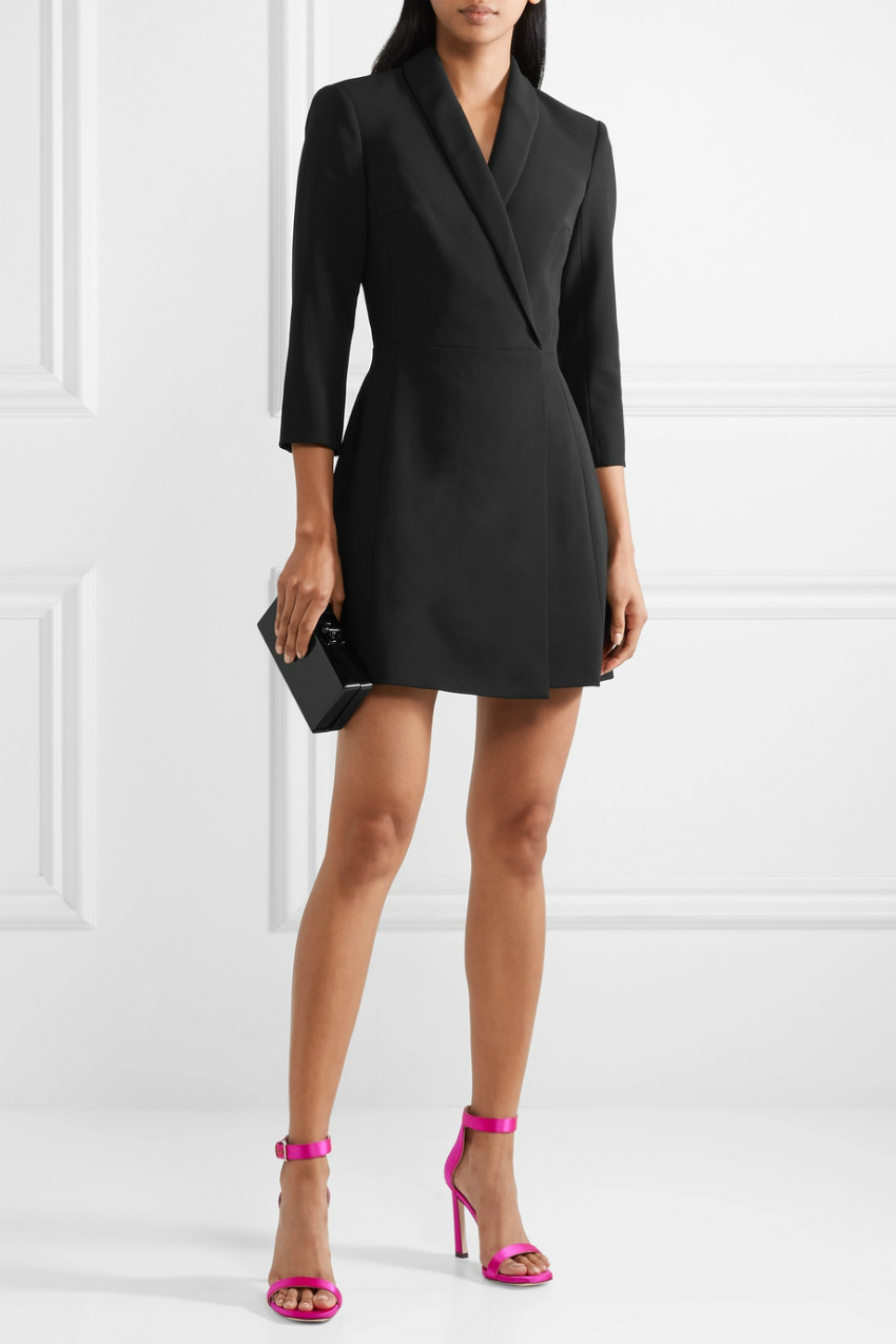 Wrap Effect Mini Dress