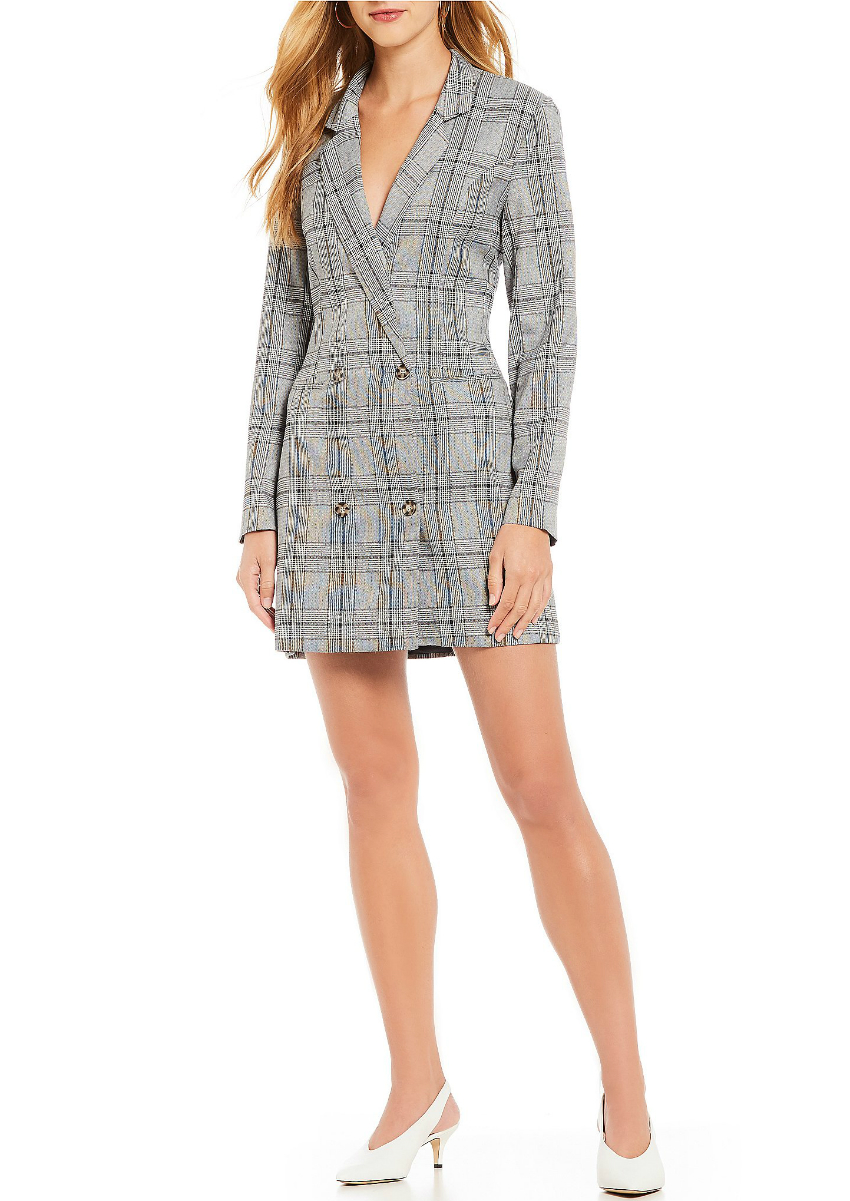 Plaid Menswear Tuxedo Dress