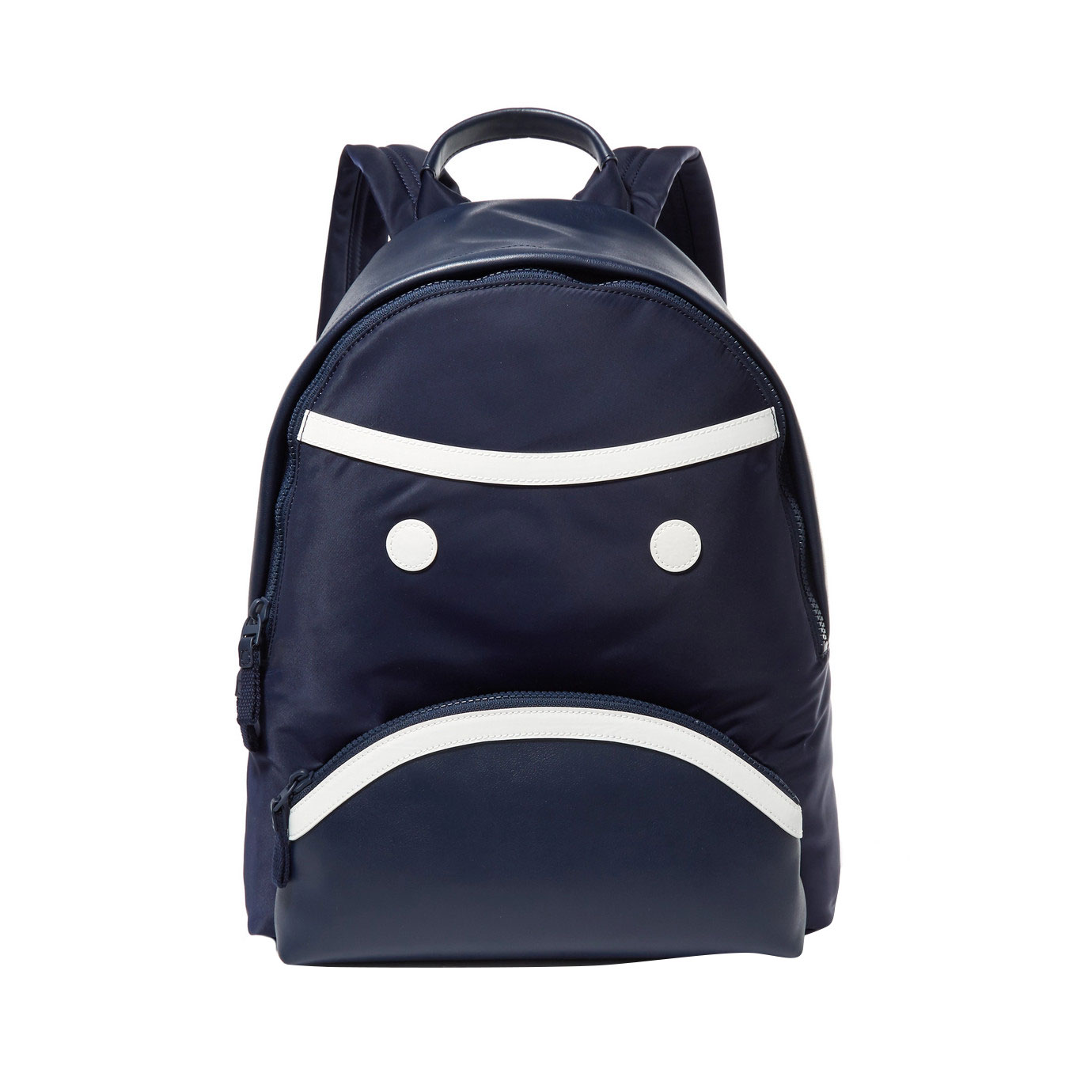 Tory Sport Grumps Appliquéd Leather and Shell Backpack
