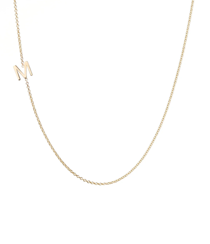 Maya Brenner Designs Mini Letter Necklace