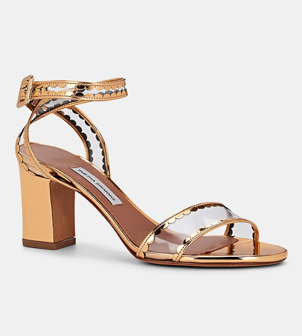 Clear Straps: Tabitha Simmons Leticia Frill Sandals