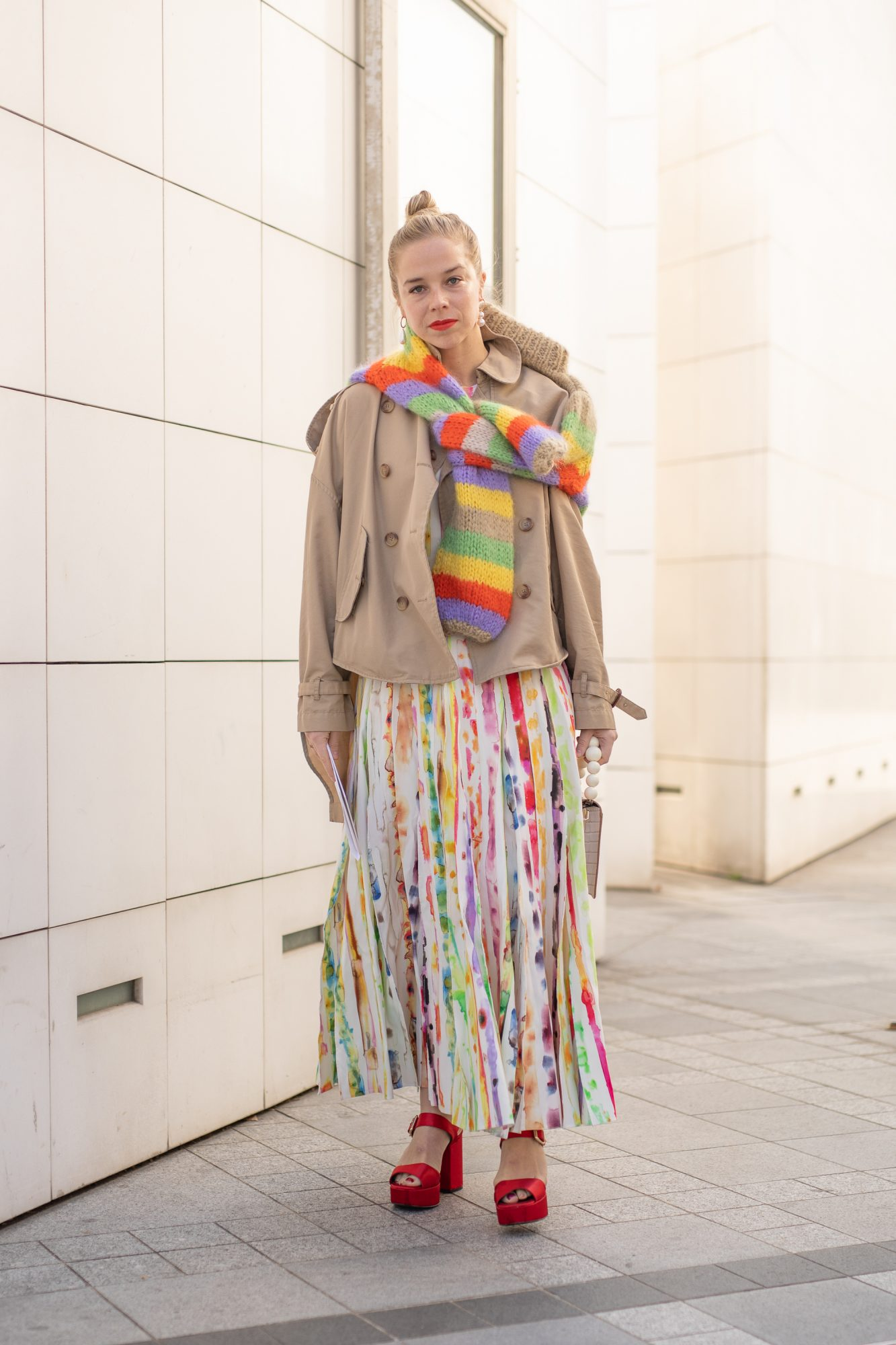 Grab a multi-color skirt