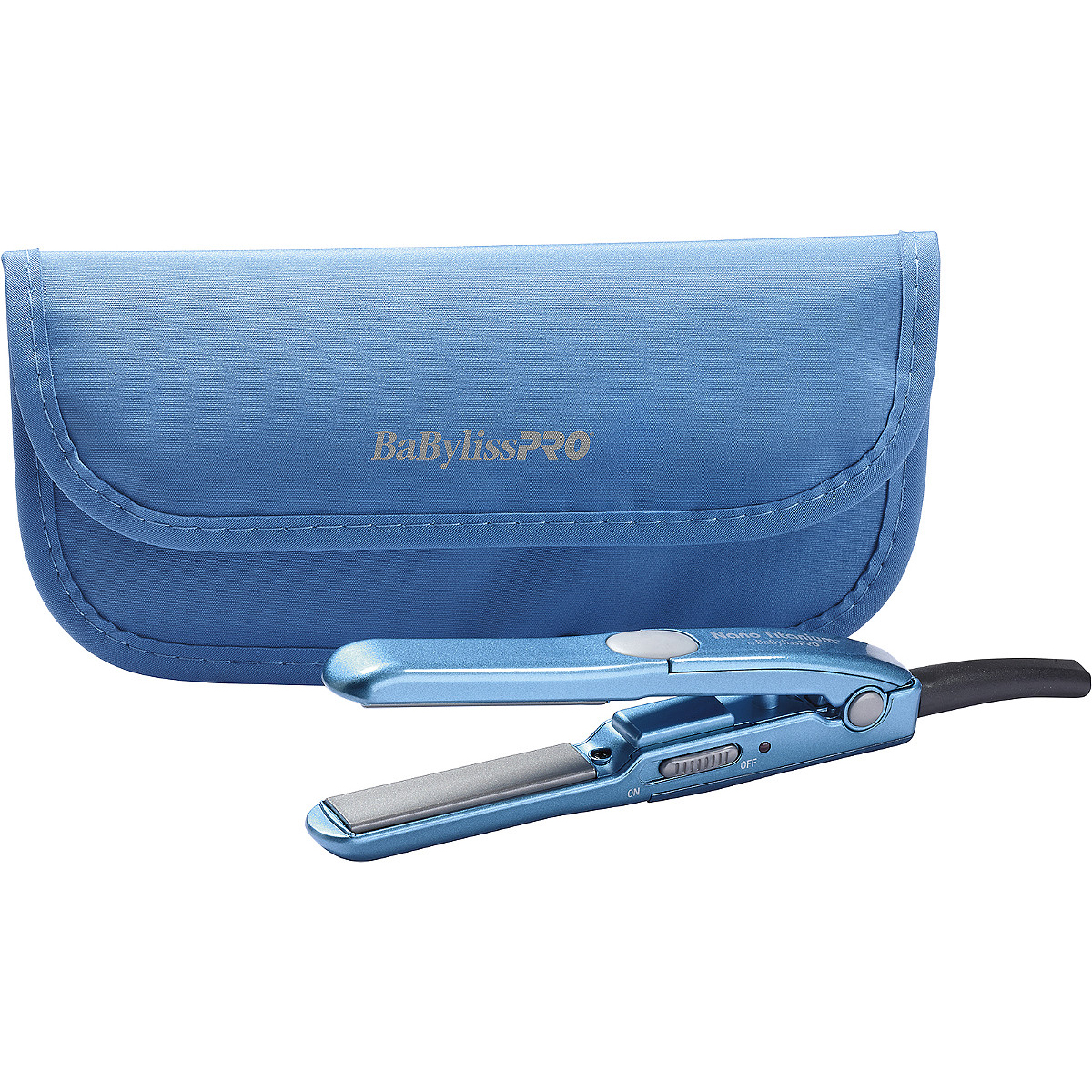 BaBylissPRO Mini Straightening Iron With Travel Pouch