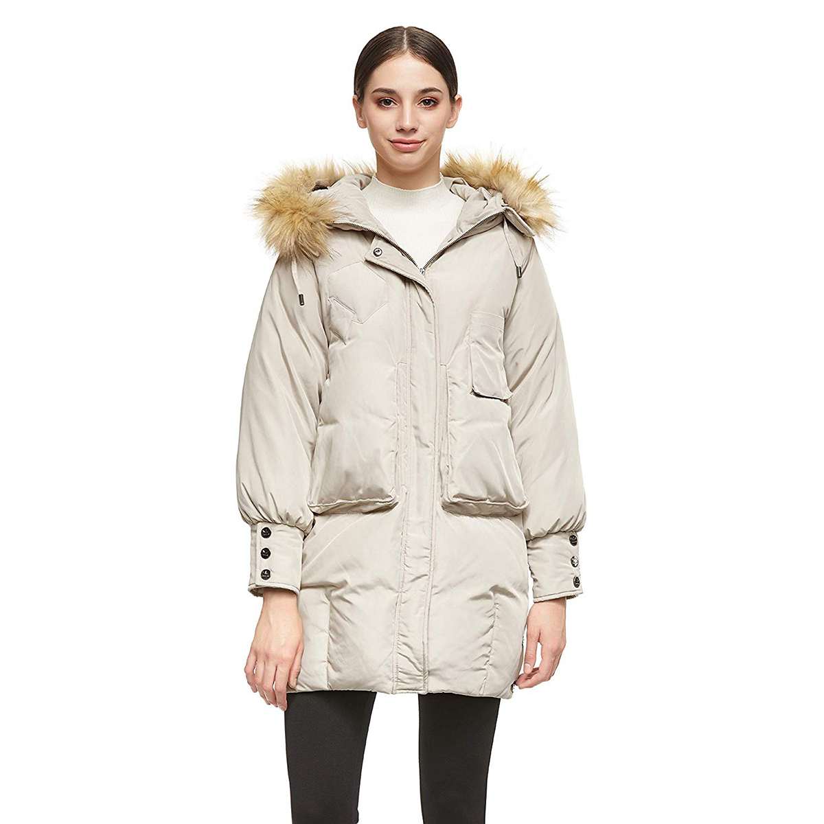 Orolay Women's Cuff Sleeve Down Jacket