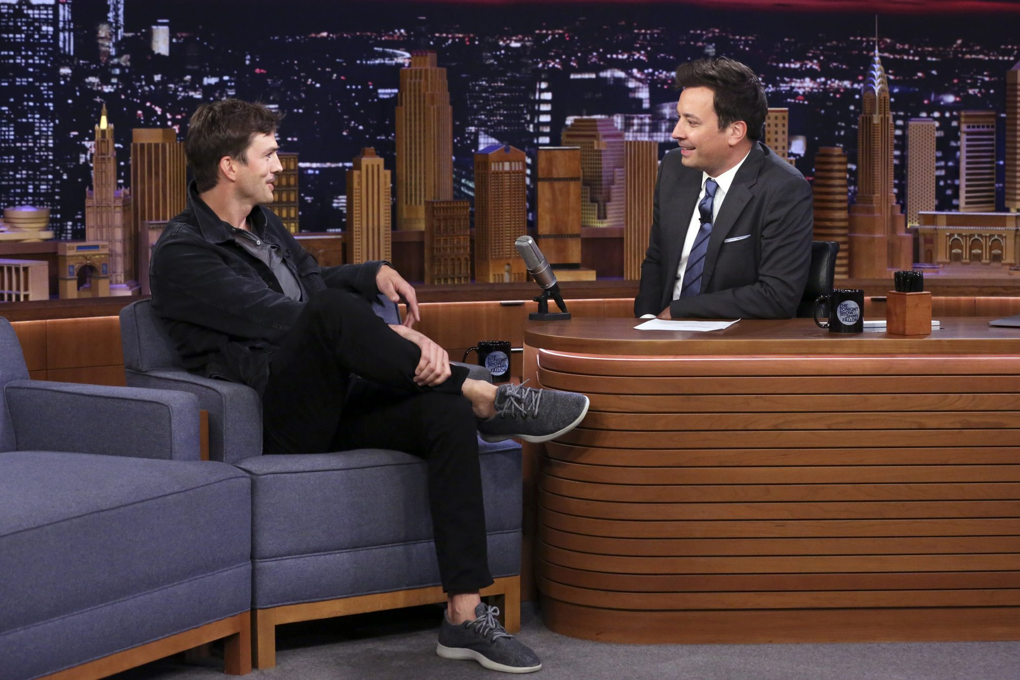 Ashton Kutcher Wearing Allbirds