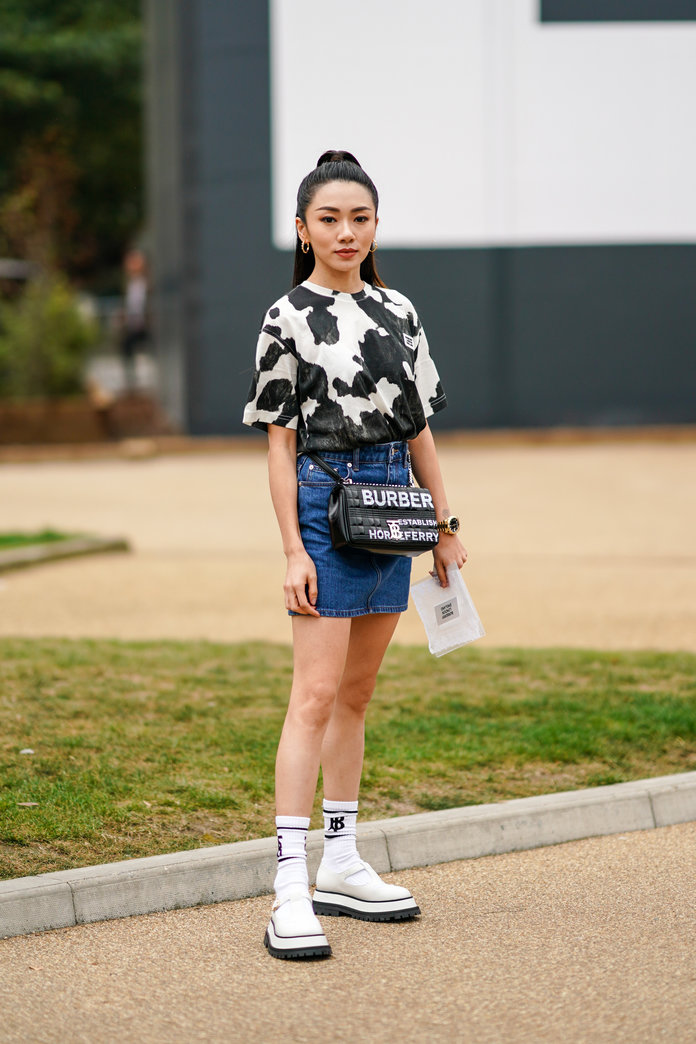 Cow print shirt outfit