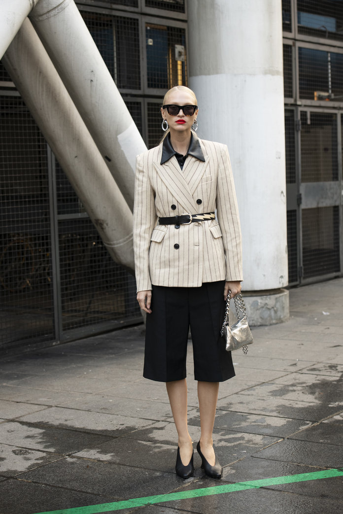 Culottes and a blazer outfit