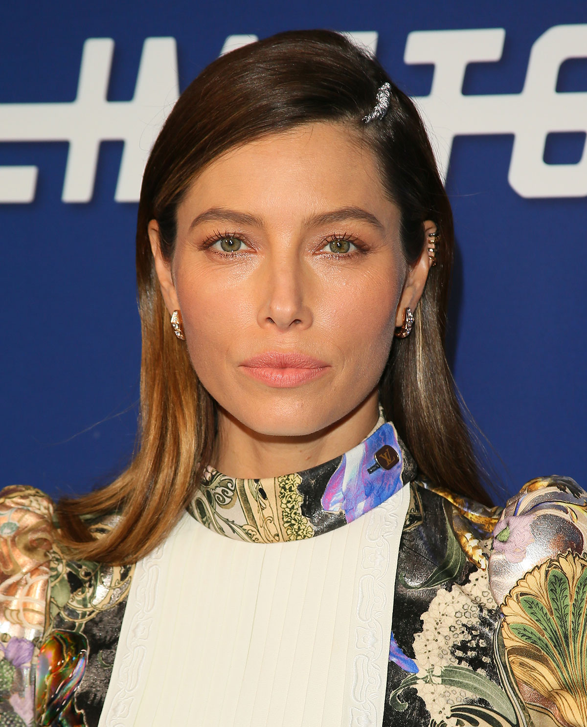 Jessica Biel's Shimmery Part